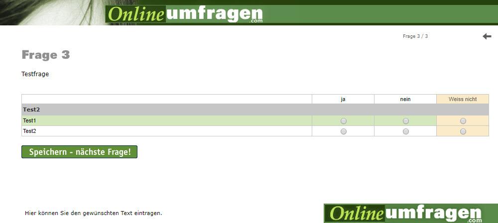 politik umfrage online